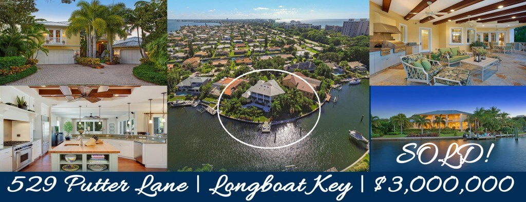 SOLD! Longboat Key Country Club Shores Waterfront Home